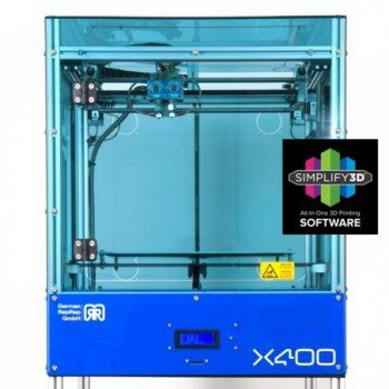 the German RepRap x400 is the First Industrial Quality Open Source 3D Printer