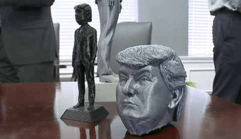 Ohio 3D prints life-size bobble heads of Donald Trump to promote local AM industry