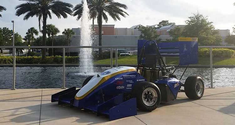 Embry Riddle Formula SAE race car 3d printed