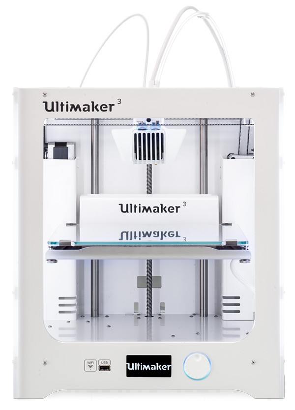 the new Ultimaker 3 3D printer