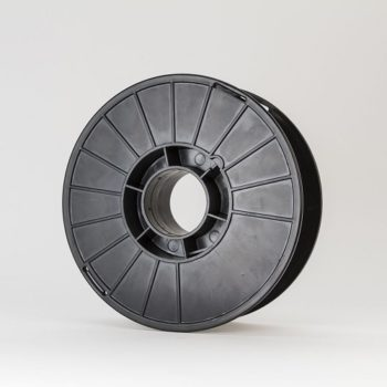 A spool of markforged onyx filament