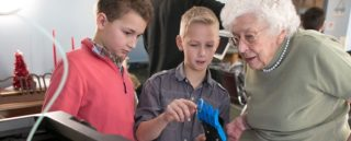 Rich Lehrer helped his students work with seniors to learn 3D printing