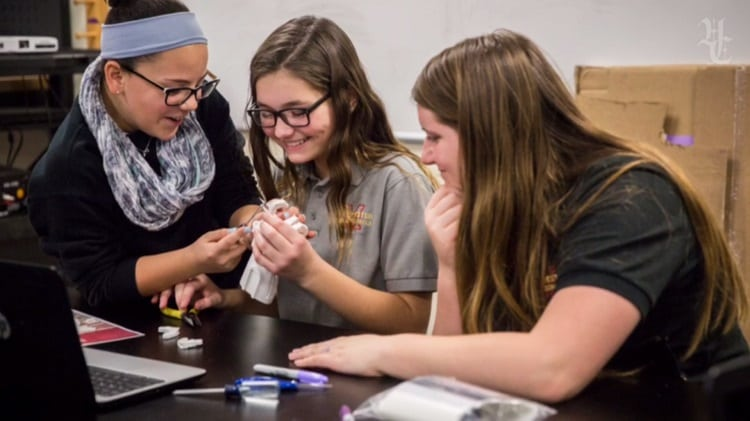20 middle school students came together to build 3d printed hands